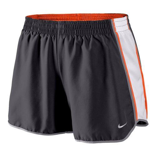 Womens Nike Pacer Lined Shorts - Dark Grey/White/Orange XS