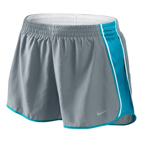 Womens Nike Pacer Lined Shorts - Grey/Turquoise M