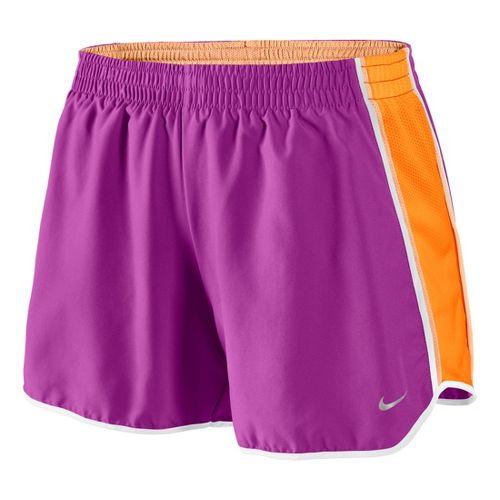 Womens Nike Pacer Lined Shorts - Magenta/Vibrant Orange XL
