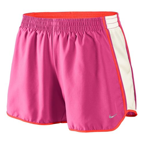 Womens Nike Pacer Lined Shorts - Pink Shock/White Sand L