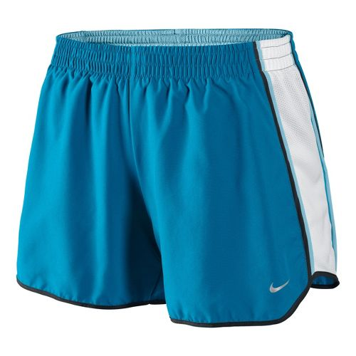 Womens Nike Pacer Lined Shorts - Sea Blue/White XS