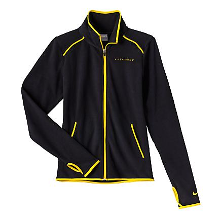 Womens nike livestrong comfy cozy jacket warm unhooded for Warm cheap places to live