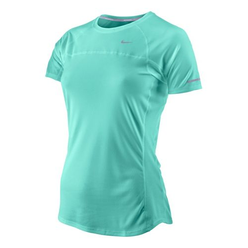 Womens Nike Miler Short Sleeve Technical Tops - Blue Paradise XS