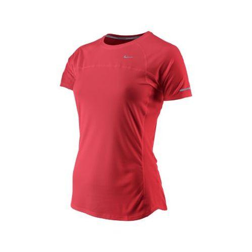 Womens Nike Miler Short Sleeve Technical Tops - Crimson L