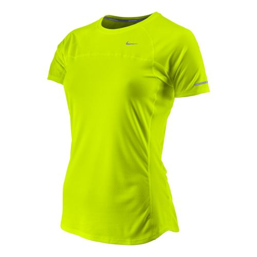 Womens Nike Miler Short Sleeve Technical Tops - Electra L