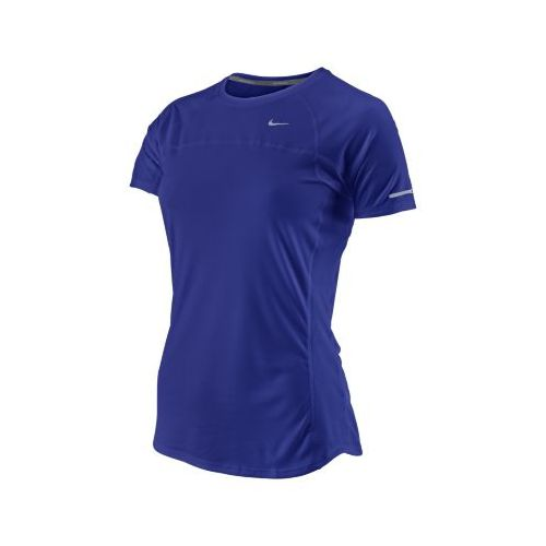 Womens Nike Miler Short Sleeve Technical Tops - Grape M