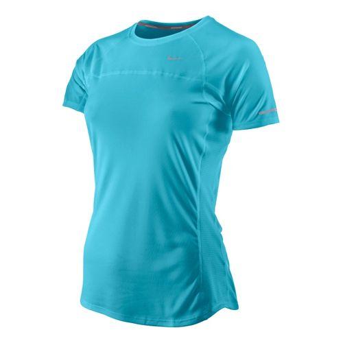 Womens Nike Miler Short Sleeve Technical Tops - Tidal M