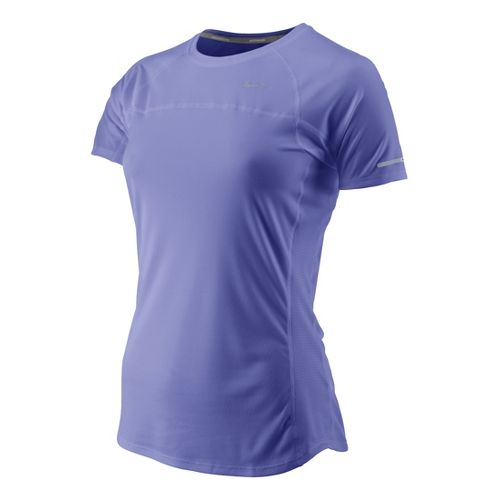 Womens Nike Miler Short Sleeve Technical Tops - Violet L