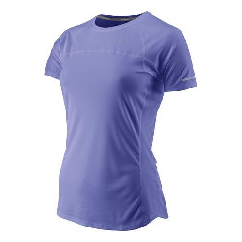 Womens Nike Miler Short Sleeve Technical Tops - Violet S