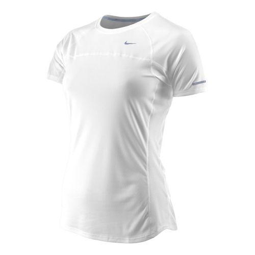 Womens Nike Miler Short Sleeve Technical Tops - White M