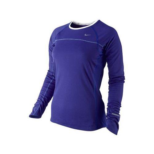 Womens Nike Miler Long Sleeve No Zip Technical Tops - Grape L