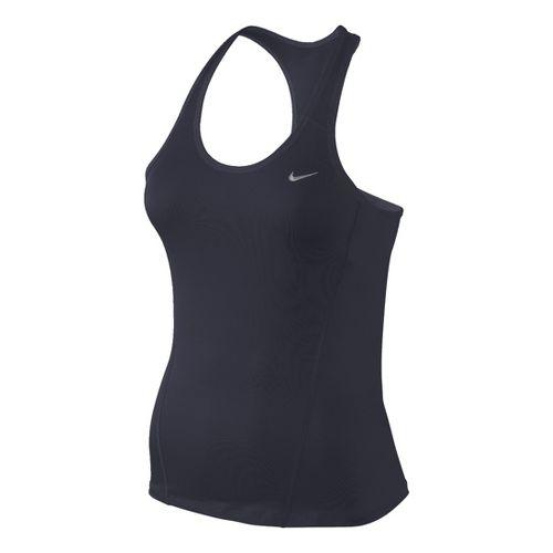 Womens Nike Long Shaping Sport Top Bras - Asphalt XS