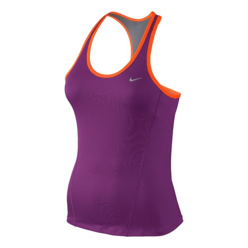 Womens Nike Long Shaping Sport Top Bras - Berry/Orange XS