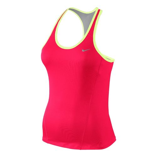 Womens Nike Long Shaping Sport Top Bras - Roxy Red XS