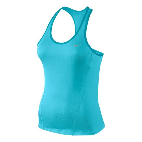 Womens Nike Long Shaping Sport Top Bras - Tidal L