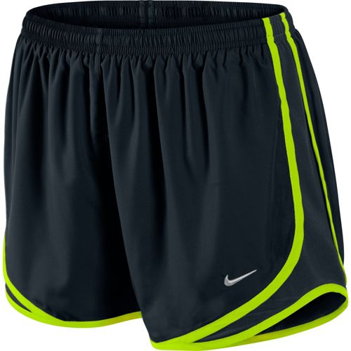 Womens Nike Tempo Track Lined Shorts - Black/Electra S