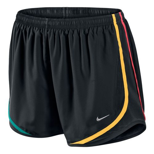 Womens Nike Tempo Track Lined Shorts - Black/Multi Color XL