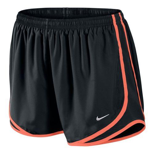Womens Nike Tempo Track Lined Shorts - Black/Orange Peel XS