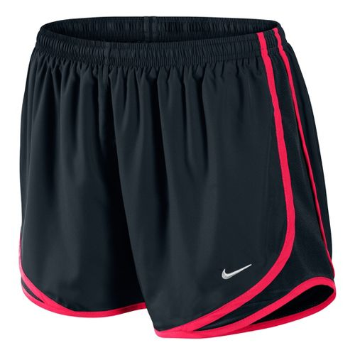 Womens Nike Tempo Track Lined Shorts - Black/Roxy Red L