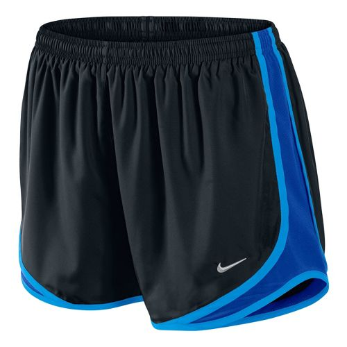 Womens Nike Tempo Track Lined Shorts - Black/Starlight Blue XS