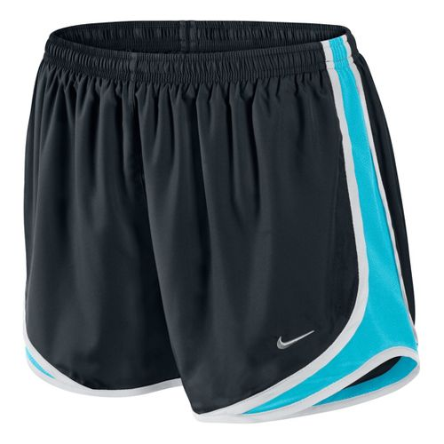 Womens Nike Tempo Track Lined Shorts - Black/Tidal L