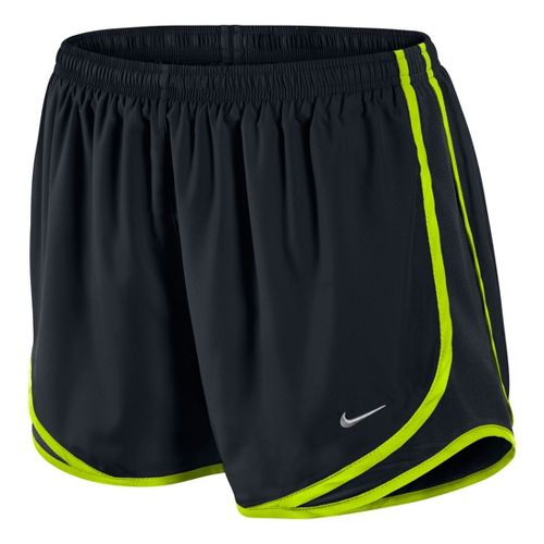 Womens Nike Tempo Track Lined Shorts - Black/Volt S