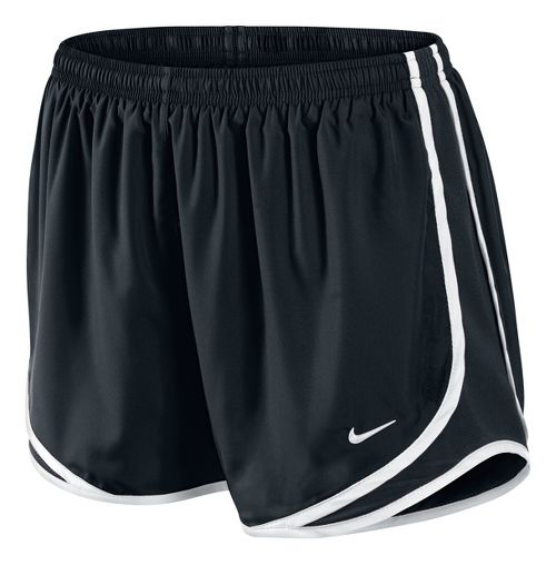 Womens Nike Tempo Track Lined Shorts - Black/White XL
