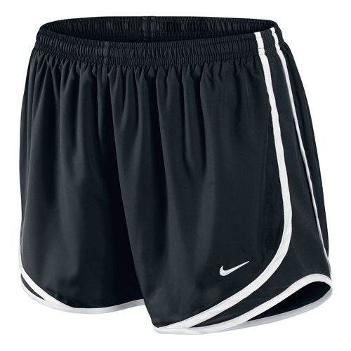 Womens Nike Tempo Track Lined Shorts - Black/White L