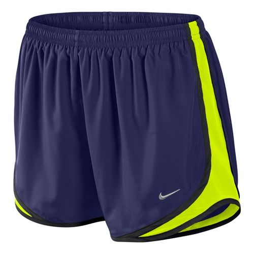 Womens Nike Tempo Track Lined Shorts - Blue Night/Electra S