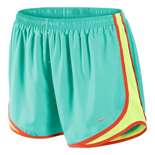 Womens Nike Tempo Track Lined Shorts - Blue Paradise/Limeade L