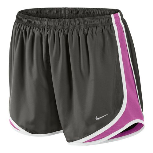Womens Nike Tempo Track Lined Shorts - City Grey/Dark Pink M