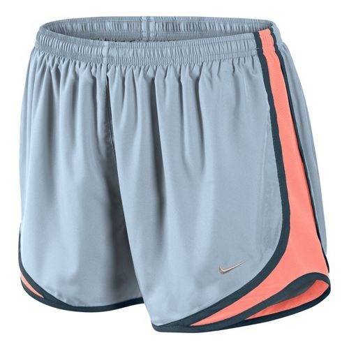 Womens Nike Tempo Track Lined Shorts - Crystal Blue/Atomic Pink L