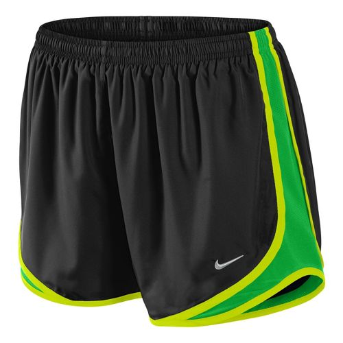 Womens Nike Tempo Track Lined Shorts - Dark Grey/Bright Green S