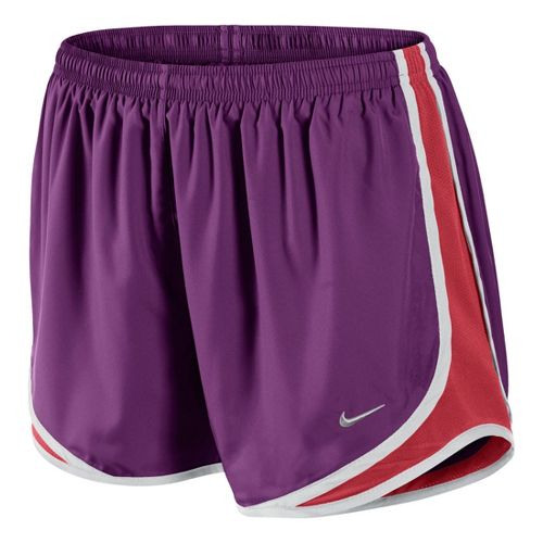 Womens Nike Tempo Track Lined Shorts - Grape/Laser Red XS