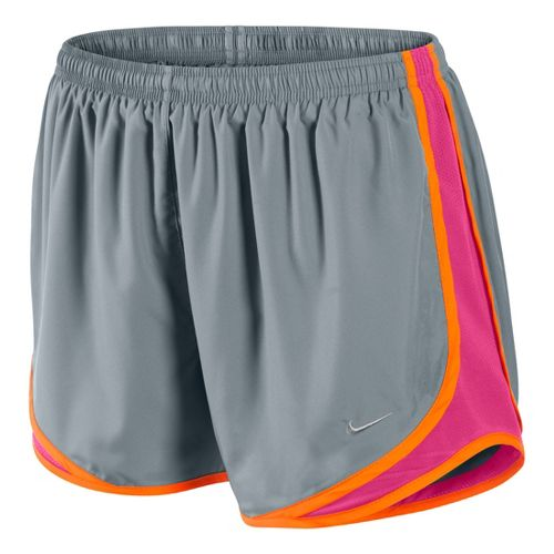 Womens Nike Tempo Track Lined Shorts - Grey/Pink Rose/Orange S