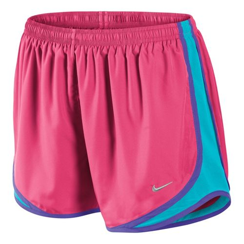 Womens Nike Tempo Track Lined Shorts - Pink Flame/Turquoise S