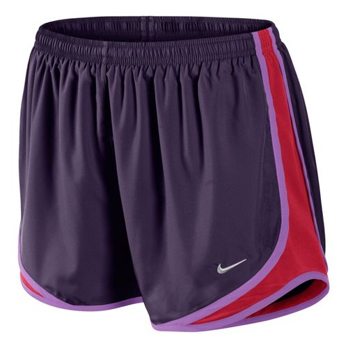 Womens Nike Tempo Track Lined Shorts - Plum/Fire Red L