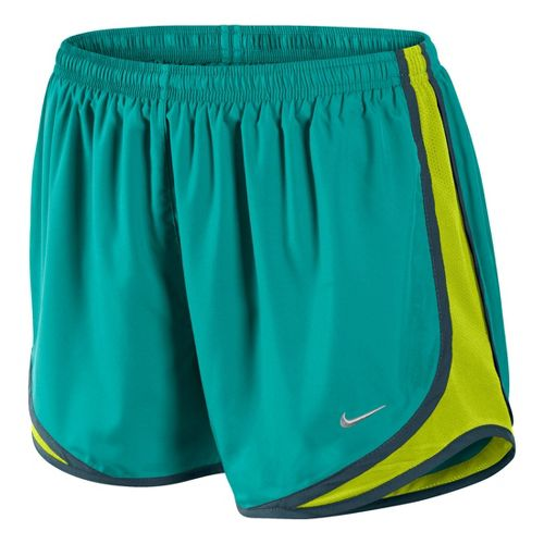 Womens Nike Tempo Track Lined Shorts - Sea Green/Electra L