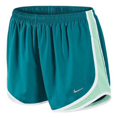 Womens Nike Tempo Track Lined Shorts - Teal/Cool Green M