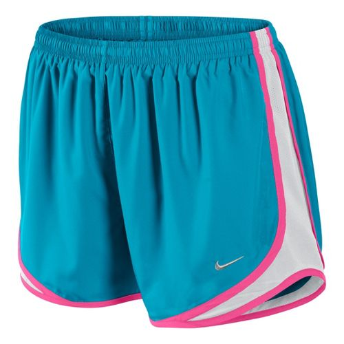 Womens Nike Tempo Track Lined Shorts - Turquoise/White/Pink Rose S