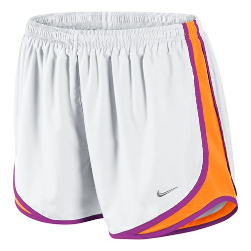 Womens Nike Tempo Track Lined Shorts - White/Vibrant Orange/Magenta S