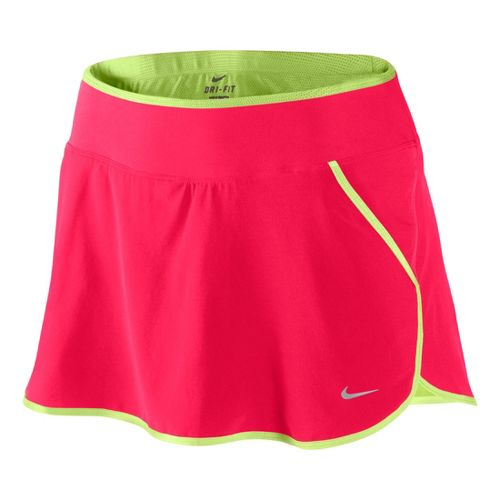 Womens Nike Lined Woven Skirt Skort Fitness Skirts - Roxy Red/Limeade L