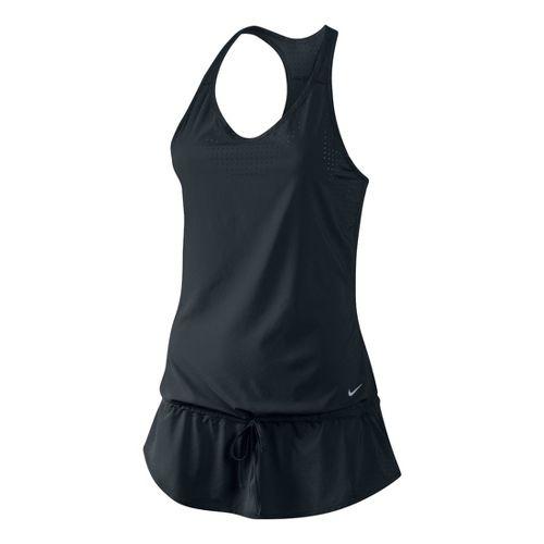 Womens Nike Running Dress Tanks Technical Tops - Black XL