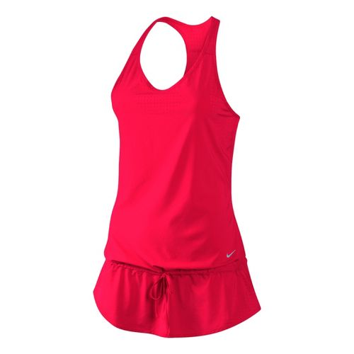 Womens Nike Running Dress Tanks Technical Tops - Roxy Red XL