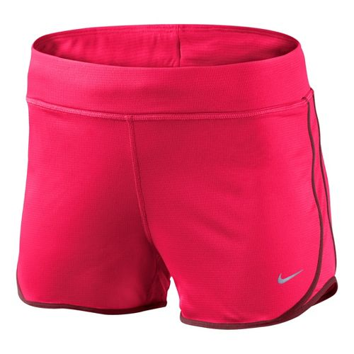 Womens Nike Knit Tempo Lined Shorts - Roxy Red XS