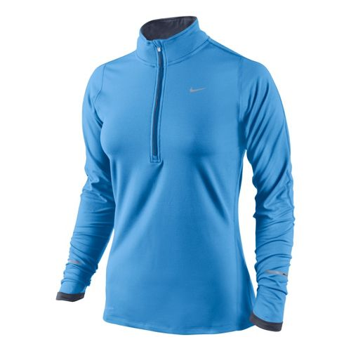 Womens Nike Element Long Sleeve 1/2 Zip Technical Tops - Arctic Blue L