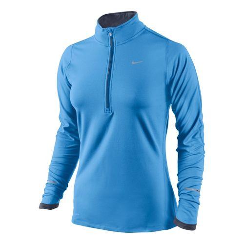 Womens Nike Element Long Sleeve 1/2 Zip Technical Tops - Arctic Blue M