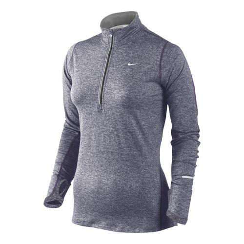 Womens Nike Element Long Sleeve 1/2 Zip Technical Tops - Dark Purple S