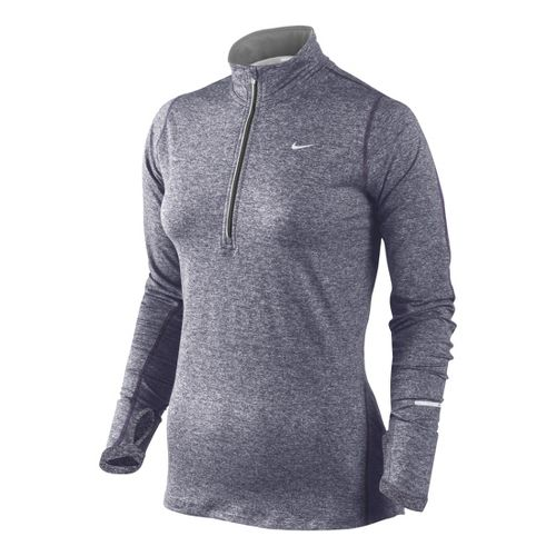 Womens Nike Element Long Sleeve 1/2 Zip Technical Tops - Dark Purple XS