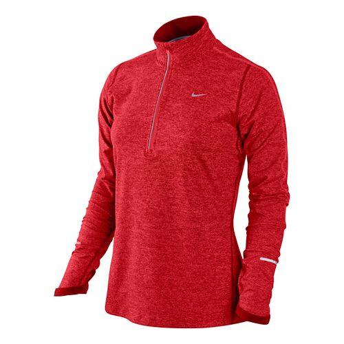 Womens Nike Element Long Sleeve 1/2 Zip Technical Tops - Formula Red XS